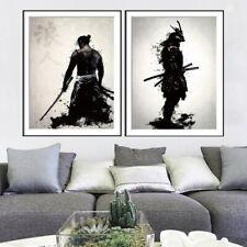 Japanese Samurai Black And White Decorative Painting Home Decoration #JIL TxThS