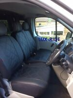 VAUXHALL VIVARO 2001-2014 EMBOSSED ARTIFICIAL LEATHER TAILORED FRONT SEAT COVERS