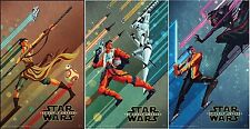 Disney Star Wars: The Force Awakens 11 x 17 EXCLUSIVE SET OF 3 POSTERS  DMR