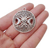 Triple Moon Phase Goddess Moon Tree Pendant Necklace Witch Wiccan Gift
