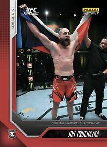 Jiri Prochazka 10th Straight KO RC Rookie Card 2021 Panini Instant UFC pre order