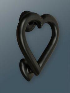 Brass Bee Door Knocker - Black Finish - Solid Brass Heart Door Knocker