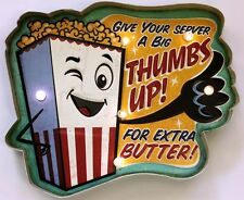 Movie Theater LED Metal Sign Popcorn Ad Vintage Home Theatre Decor Cinema New