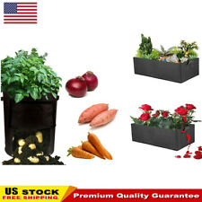 Garden Planting Grow Bag Fabric Container Vegetable Flower Planter Pot Bags Us
