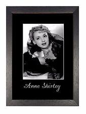 Anne Shirley Vintage Hollywood Actriz Blanco y Negro de foto impresión Retro Cartel