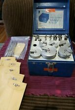 Vtg Metal Case Time Saver Tool Professional Drill Kit + Other Parts