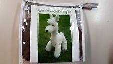 Pepito the Alpaca Knitting Kit to Knit Chocolate Brown Alpaca Toy in Alpaca Wool