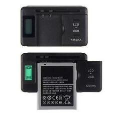 Universal LCD Indicator Screen Mobile Battery Charger +USB-Port For Cell Phones