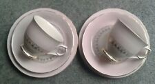 VINTAGE RETRO PAIR OF OLD FOLEY JAMES KENT LTD TRIOS CUP SAUCER & PLATE PINK...