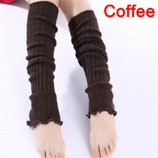 Fashion Women Girl Winter Long Leg Warmers Knit Crochet Leggings Stockings So Yf