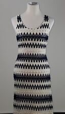 Gianni Bini Crocheted Blue White Maxi Fitted Dress Summer Sleeveless Party Sz. S