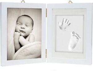 3D Baby Fußabdruck Bilderrahmen Fotorahmen Set Gipsabdruck Handabdruck Geschenke