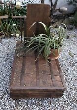 plant stand, old farm scales,antique rustic weighing machine, industrial