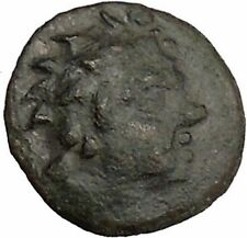 PANTIKAPAION in TAURIC CHERSONESOS 150BC Pan Caps of Dioscuri Greek Coin i38356