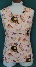 Creamsicle Orange Novelty Polyester Tank Top Small S