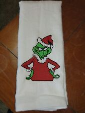 Embroidered Velour Hand Towel - The 1/2 Grinch