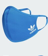 ***BRAND NEW ADIDAS FACE MASK BLUE ONE SIZE 3PACK AUTHENTIC WASHABLE REUSABLE*