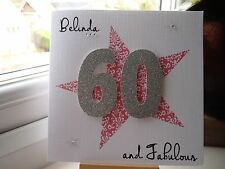 Handmade Personalised Female Birthday Card 18th 21st 30th 40th 50th 60th