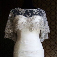 Sparkling Wedding Jackets Crystal Beading Appliques Bridal Cape Boleros Custom