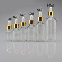 NE_ KE_ 5ml-100ml Empty Liquid Bottle Clear Glass Reagent Pipette Dropper Bottle