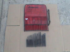 Snap on tools 15 pieces punch and chisel wIth gauge + roll pouch