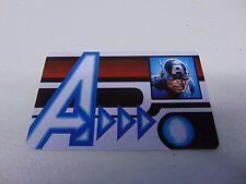 HEROCLIX MARVEL AVENGERS CAPTAIN AMERICA ID CARD PROMO L.E.  NEW!!! HC59