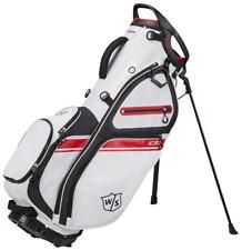 Wilson Staff Golf eXo II Carry/Stand Bag (White/Black/Red) + Rain Hood New