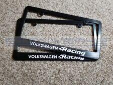 Volkswagen Racing License Plate Frame Golf GTI JETTA PASSAT R New - Pair
