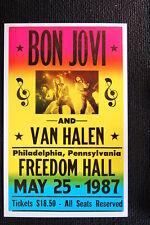 Bon Jovi w/Van Halen 1987 Tour Poster Freedom Hall Phil