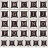 Eg _ Lettre Alphabet Lin Housse de Coussin Taie D'Oreiller Taile Jeté Lit Décor