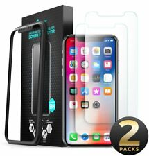 i-Blason iPhone X Screen Protector HD Tempered Glass Screen Protector 2Pk