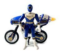 Blue Zeo Ranger Figure & Jet Cycle III Vintage Power Rangers Set 1996 Bandai 90s