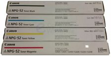 Genuine Canon Npg-52 Toner Full Set Cyan Black Yellow Magenta Irc2020 Irc2030