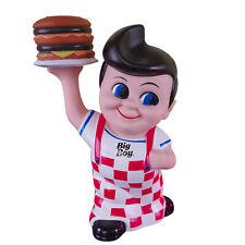 "Iconic Retired Big Boy Restaurant Piggy Coin Bank Cheeseburger Hamburger 8"" NEW"