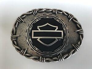 Harley-Davidson rare,solid men's belt buckle.#97720-10VM.Antique nickel plaited.