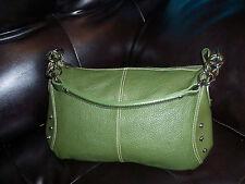 FURLA Green Pebble Leather Satchel Bag - MEDIUM - MADE IN ITALY