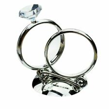 Wedding Cake Topper Diamond Ring Reception Table Centrepiece Decorations