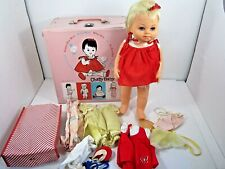 VINTAGE 1962 MATTEL CHATTY BABY TALKING DOLL & CASE WITH CLOTHES NOT WORKING TOY