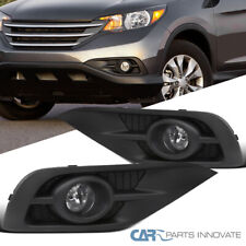 For 12-14 Honda CR-V CRV Clear Fog Lights Driving Bumper Lamps Pair+Bezel+Switch