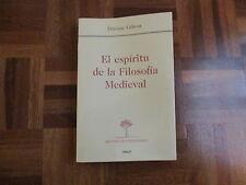 LIBRO PARA GRADO DE HISTORIA DE LA UNED EL ESPIRITU DE LA FILOSOFIA MEDIEVAL