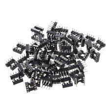 60 Pcs Plastic Metal Black 8 Round Pin 2.54mm Pitch DIP Ic Adaptor Sockets AD
