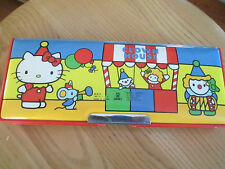 Vintage Sanrio 1976 Hello Kitty Vinyl 2 sided magnetic pencil case/Japan