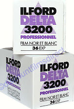 2 x ILFORD DELTA 3200 35mm 36exp CHEAP  Black & White FILM  by 1st CLASS POST