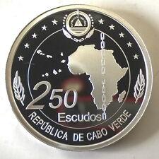 Cape Verde 2013 Unidade Africana 250 Escudos Silver Coin,Proof