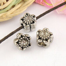 3Pcs Tibetan Silver Beaded Star Spacer Beads 10mm A424