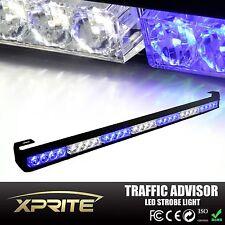 """31"""" Emergency Traffic Advisor Hazard Flash Strobe LED Light Lamp Bar White Blue"""