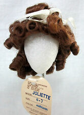 "GLOBAL Doll Wig ""JOLIETTE"" Size 6-7 AUBURN - RINGLETS & RIBBONS - Sweet Girl!"