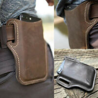 Men's Mobile Phone Pouch Wallet Belt Loop Leather Holster Waist Bag Case Gift