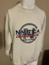 Vintage Nautica Competition Cross Training Men Spell Out Crewneck Sweatshirt L
