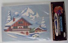 Picturepoint Yarn Kit WINTER WONDERLAND 1977 VTG Craft Mountain Swiss Chalet